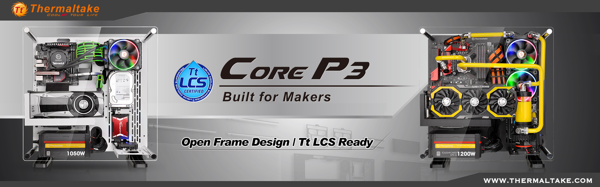 Thermaltake Release The Core P3 Series Wall Mounted Chassis