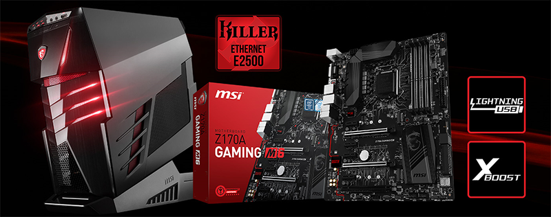 Msi launches aegis ti gaming desktop and z170a gaming m6 motherboard today msi launched two new products featuring the killer e2500 network chip the aegis ti gaming desktop and the z170a gaming m6 motherboard publicscrutiny Images