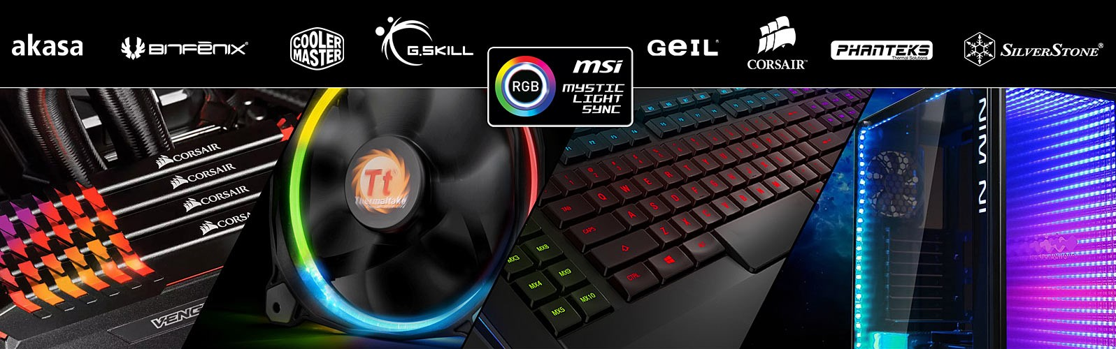 MSI's Mystic Light Sync Synchronize with Other Brand's Products
