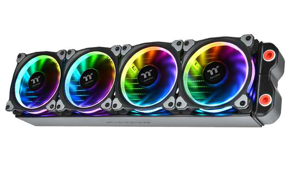 The New Thermaltake Riing Plus 12 LED RGB Radiator Fan