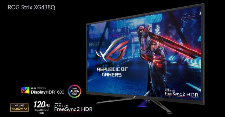 ASUS ROG Strix XG438Q 4K UHD FreeSync 2 HDR Gaming Monitor Now Available