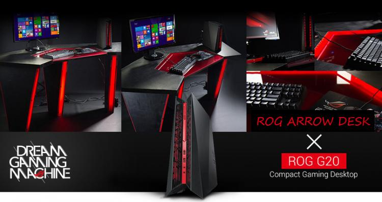 gaming computer desk modded elegance asus rog announce the gaming 11501
