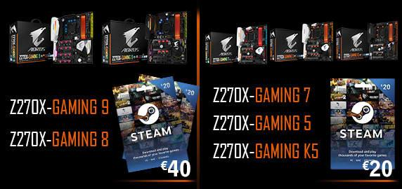 Buy AORUS Gaming Motherboards and Get FREE Steam Voucher!